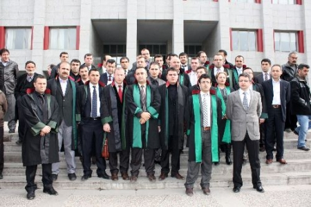 Erzurum'da Avukat protestosu 1