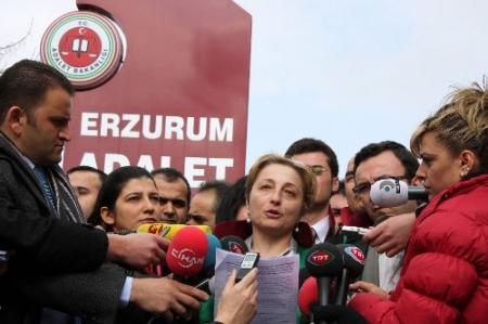Erzurum'da Avukat protestosu 2