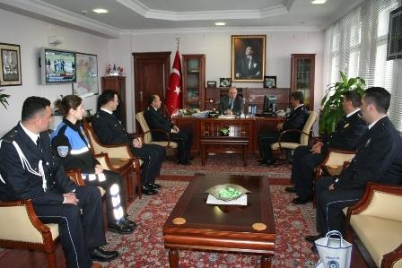 Polis'ten Erzurum valisine ziyaret 2