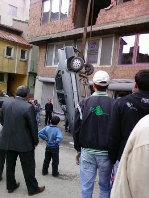 Erzurum'da görülmedik kaza! 2