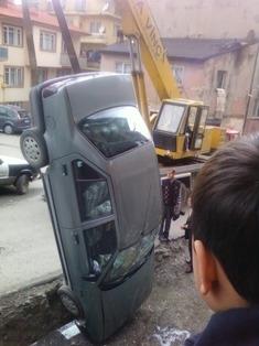 Erzurum'da görülmedik kaza! 3