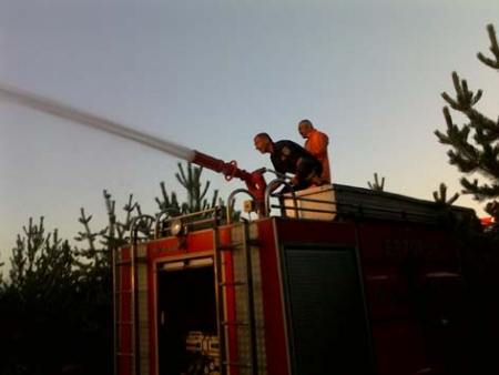 Erzurum'da korkutan yangın! 3