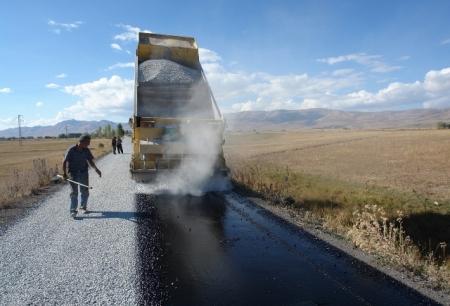 Erzurum'da Köy-Mahallelere asfalt! 2