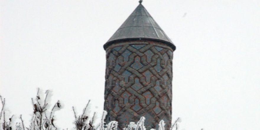 Erzurum'dan eşsiz kar manzaraları!
