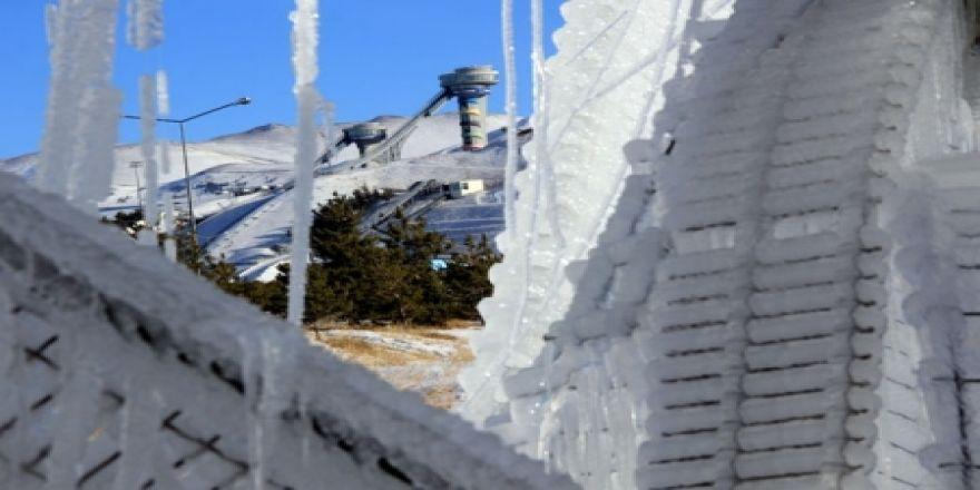 Sibirya soğukları buzlu sanata dönüştü