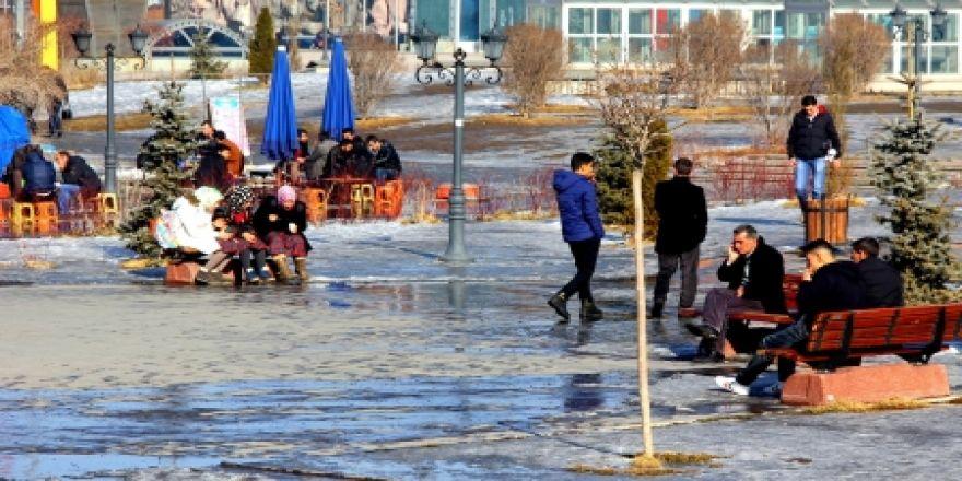 Erzurum'da son 50 yılın en sıcak kışı