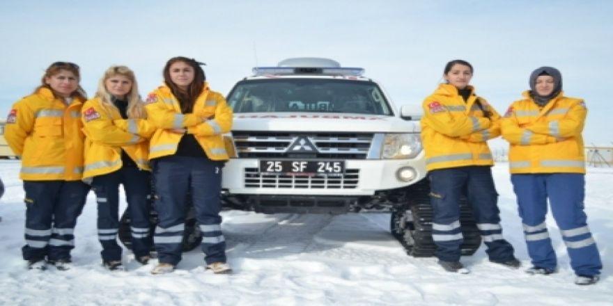 Erzurum'da kara kışın kurtarıcıları
