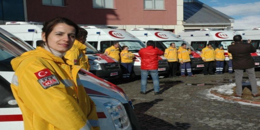 Erzurum'a 9 yeni ambulans