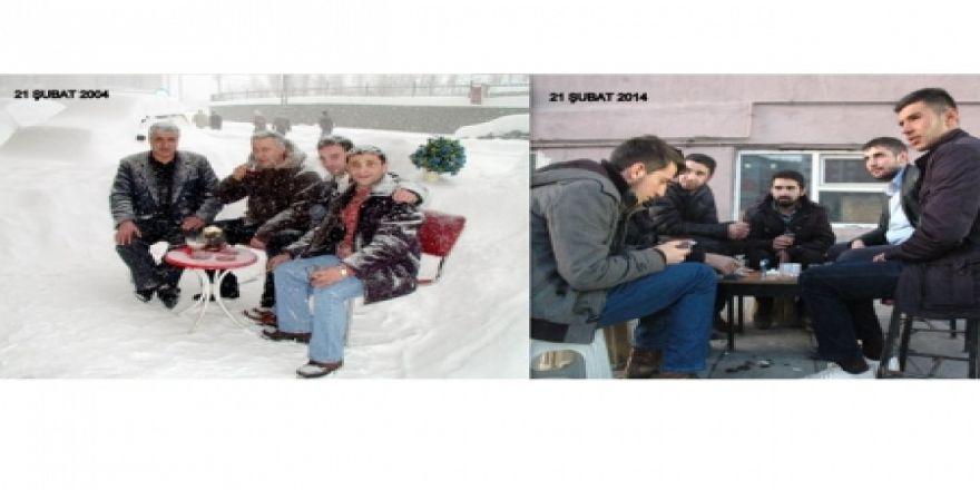 10 yıl önce ve 10 yıl sonra kış!