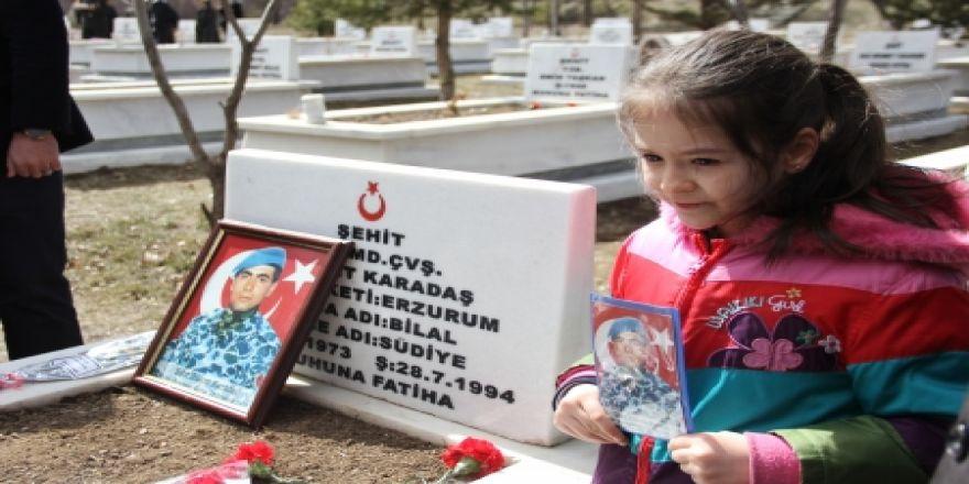Erzurum'da şehitler unutulmadı