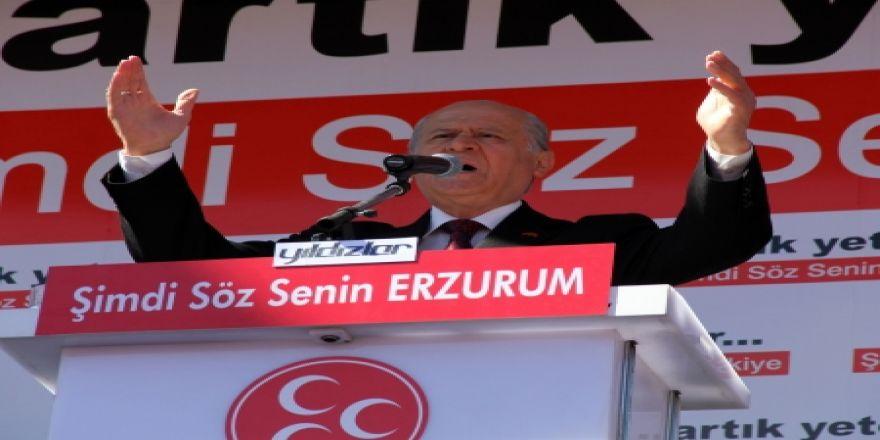 MHP'den Erzurum'da gövde gösterisi