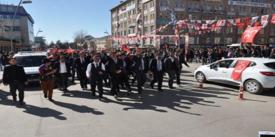 Erzurum'da ülkücüler yürüdü