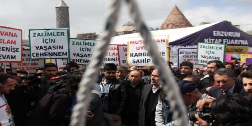 Erzurum idam kararına sessiz kalmadı!