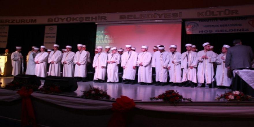 Erzurum'da 81 hafız diploma aldı