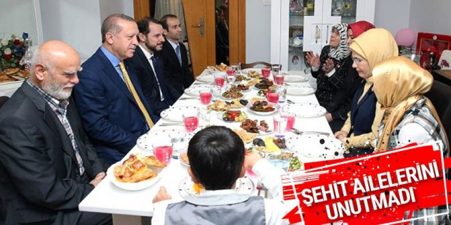 Cumhurbaşkanı Erdoğan'dan şehit ailelerine ziyaret