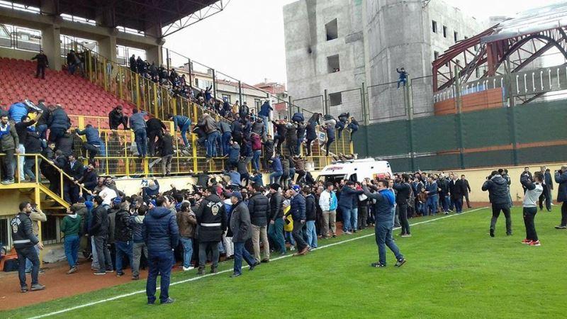 BB Erzurumspor maçında olay çıktı
