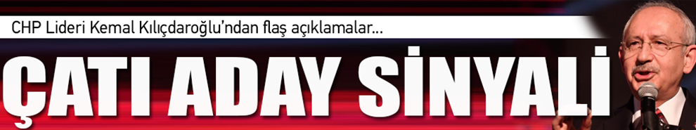 Cumhurbaşkanlığı İçin Çatı Aday Açıklaması!