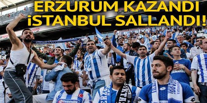 BB Erzurumspor şampiyon olarak 1. Lig'e yükseldi!