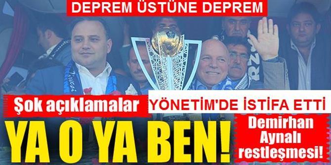 Flaş... Şampiyon Erzurumspor'da büyük restleşme