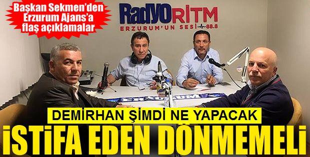 Başkan Sekmen'den bomba açıklama!