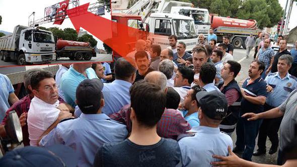 Kuyucak'ta Atatürk takı krizi