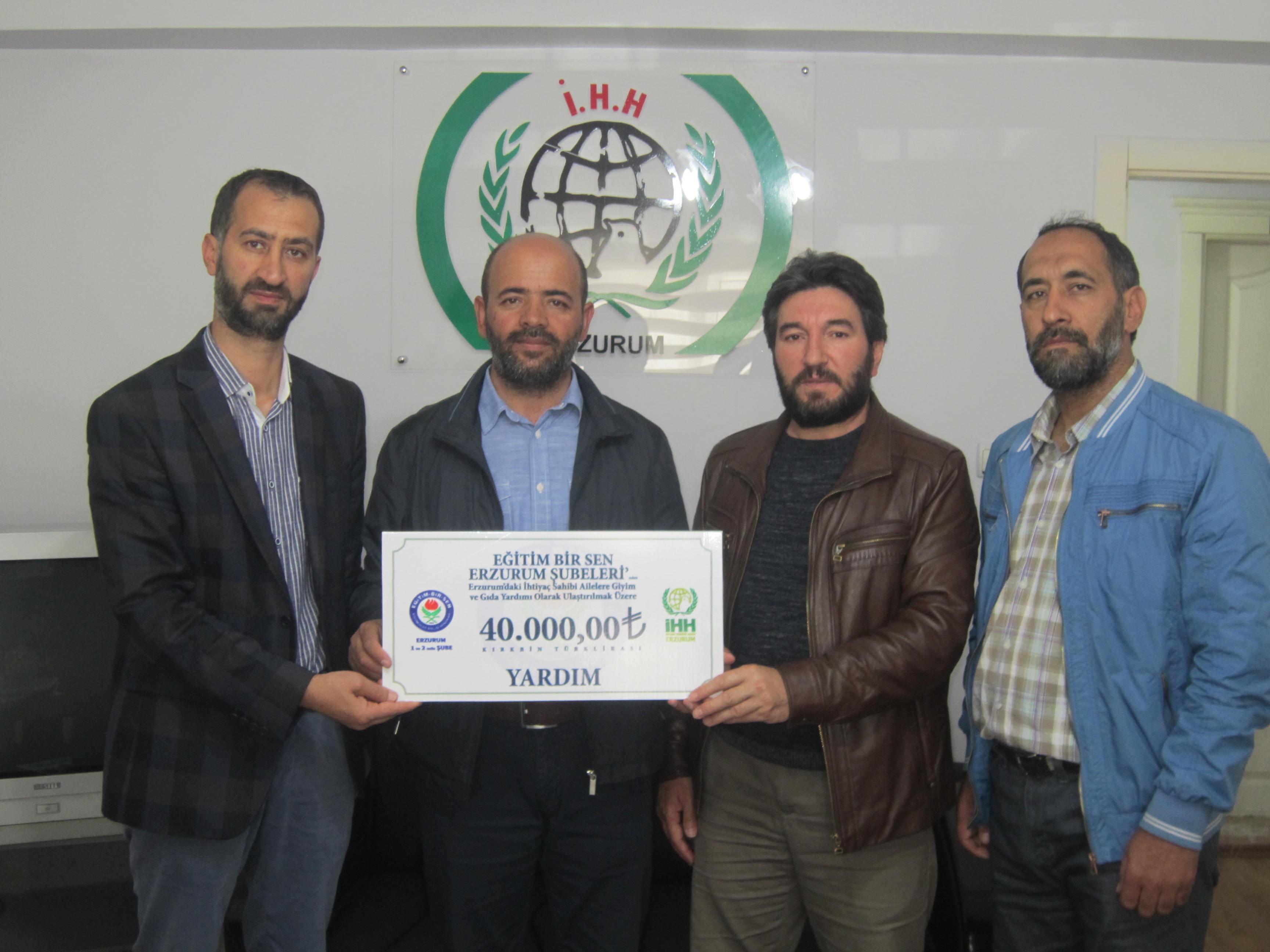 Erzurum Eğitim Bir Sen'den anlamlı yardım