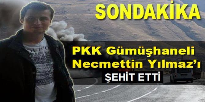 PKK, öğretmen Necmettin Yılmaz'ı şehit etti