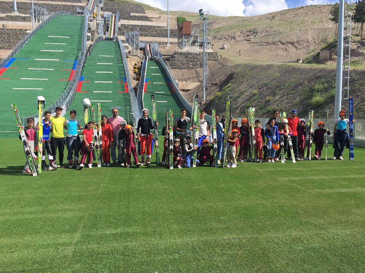 Kayakla atlama alt yapı takımı antrenmanları Erzurum'da yapıldı