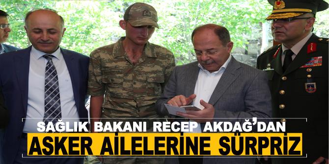 Sağlık Bakanı Recep Akdağ'dan asker ailelerine sürpriz