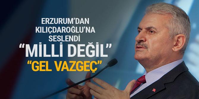 Başbakan'dan Kılıçdaroğlu'na: Bu yürüyüş milli değil, vazgeç