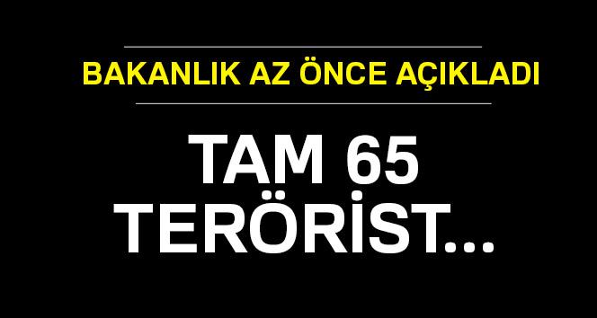 65 terörist etkisiz hale getirildi