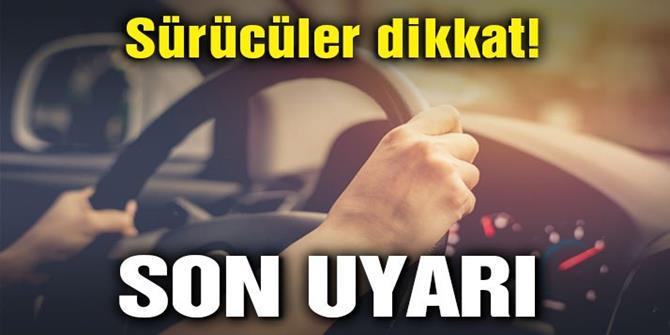 Araç sahiplerine son plaka uyarısı