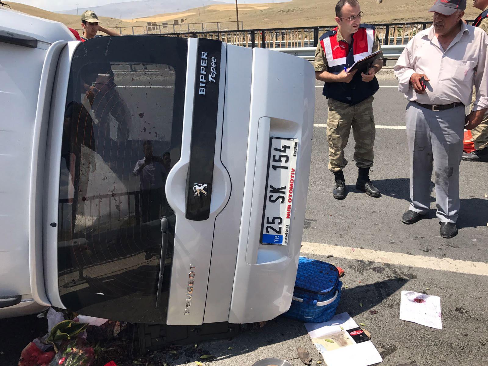Erzurum'daki trafik kazasında ölü sayısı 4'e yükseldi