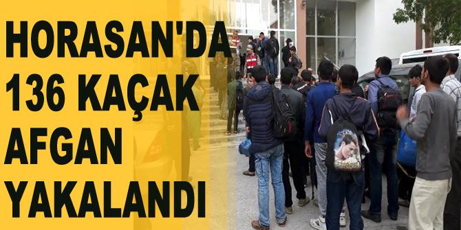 Horasan'da 136 Afgan Kaçak Yakalandı
