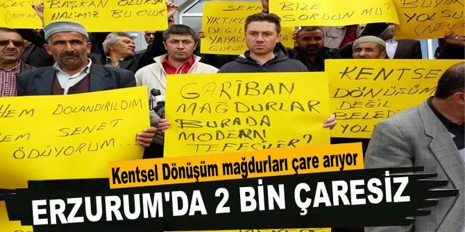Erzurum'da 2 bin çaresiz var!