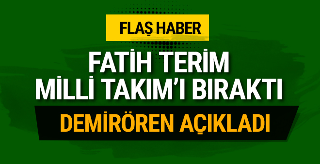 Fatih Terim istifa etti!