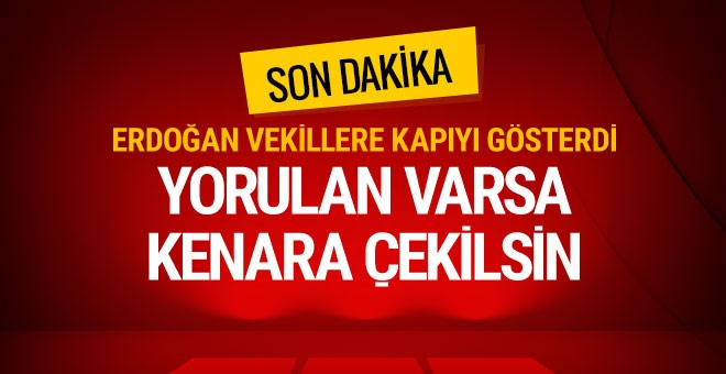 Erdoğan'dan net tavır: