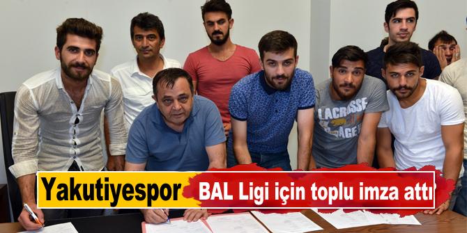 Yakutiyespor, BAL Ligi için toplu imza attı
