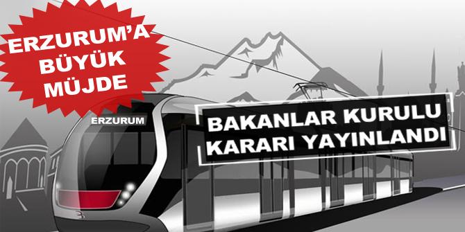 Erzurum'a büyük müjde