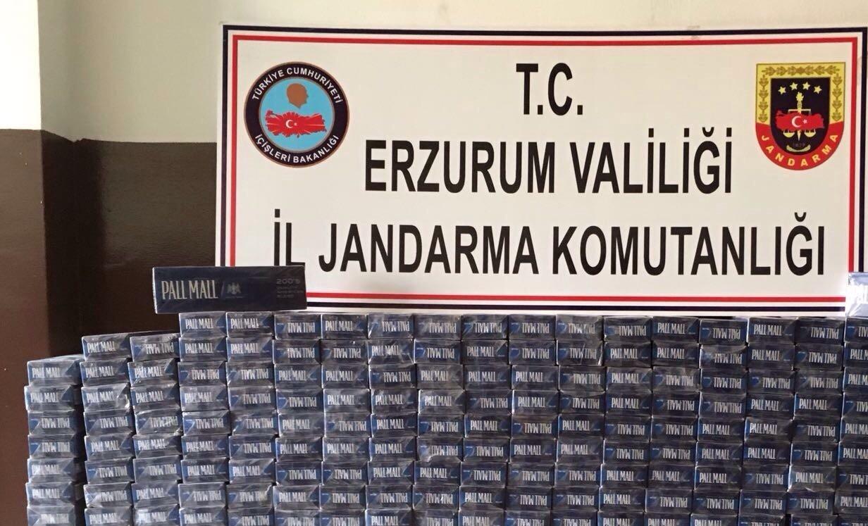 Erzurum'da 5 Bin 180 Paket Kaçak Sigara Ele Geçirildi