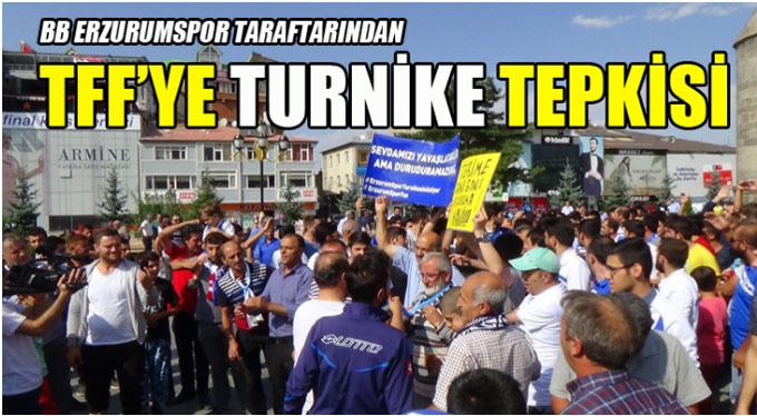 Erzurum'da TFF turnike tepkisi