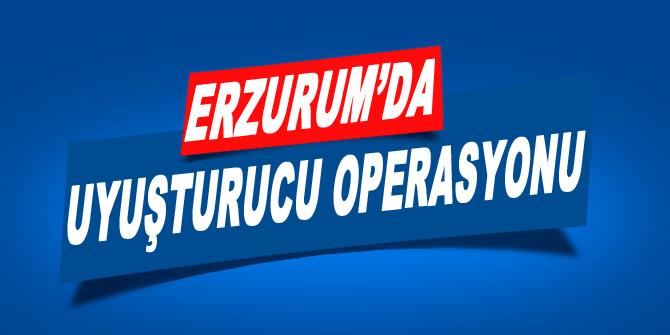 Erzurum'da uyuşturucu operasyonu