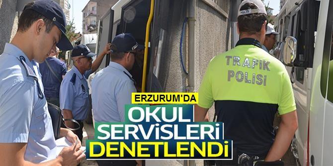 Erzurum'da Okul Servisleri Denetlendi
