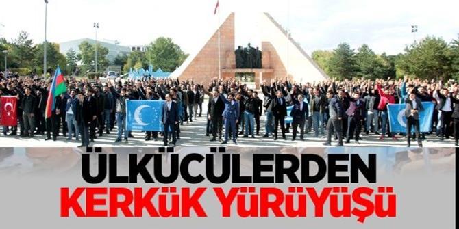 Ülkücülerden Kerkük'e destek yürüyüşü