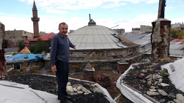 Erzurum'da Tarihi Hamamın Kurşunları, 3'üncü Kez Çalındı