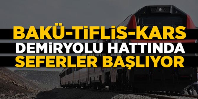 BTK demiryolu hattında ilk resmi sefer 30 Ekim'de