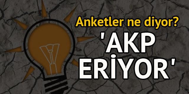 AKP, karlı dağlar gibi erimekte'