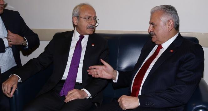 Başbakan Yıldırım-Kılıçdaroğlu görüşmesi sona erdi