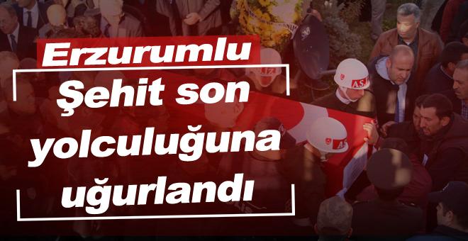 Erzurumlu şehit son yolculuğuna uğurlandı