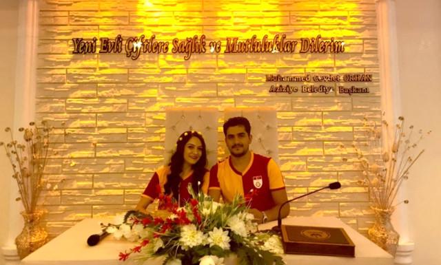 Nikah Masasına Galatasaray Formasıyla Oturdular